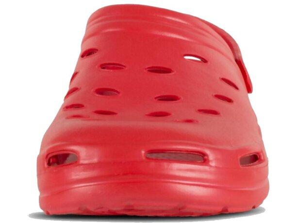 Zueco ultraligero y cómodo rojo