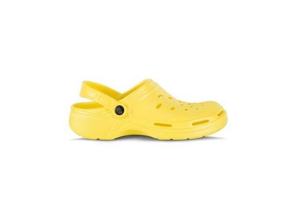 Zueco ultraligero y cómodo personalizado amarillo