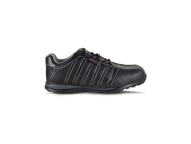 Zapato de piel con suela de goma antiimpactos