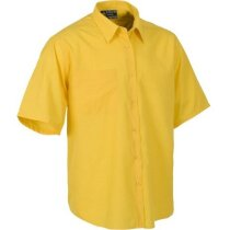 Camisa de manga corta con bolsillo amarilla merchandising