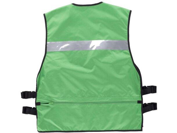 Chaleco de seguridad con multolsillos verde
