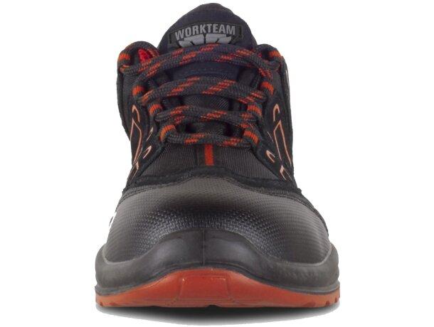 Zapatilla protección negro rojo