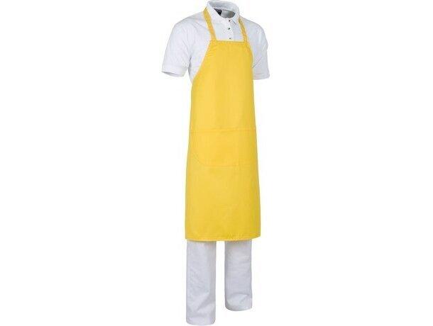 delantal largo en varios colores amarillo