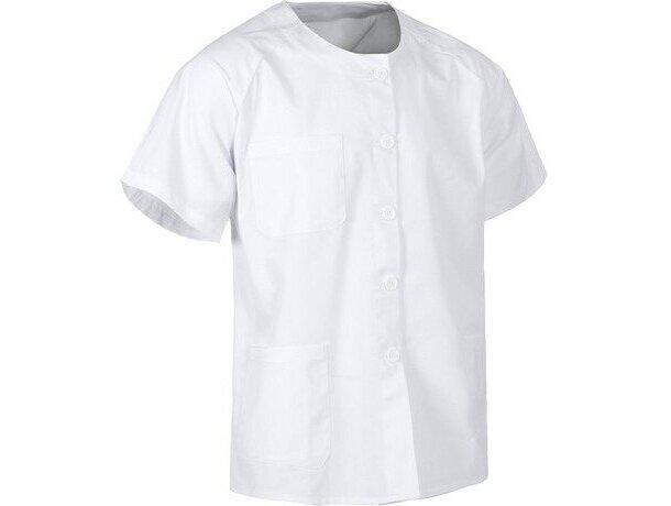 Casaca lisa en manga corta blanca