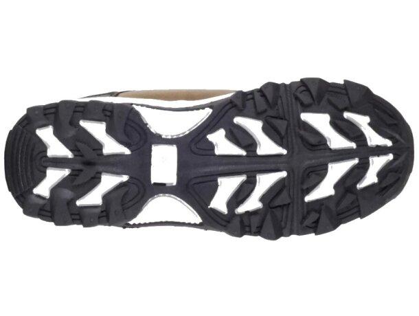 Zapatilla protección beige negro