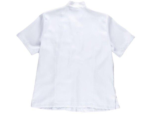 Casaca de mujer botones laterales blanco