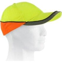 Gorra de trabajo con bandas eflectantes personalizada amarilla