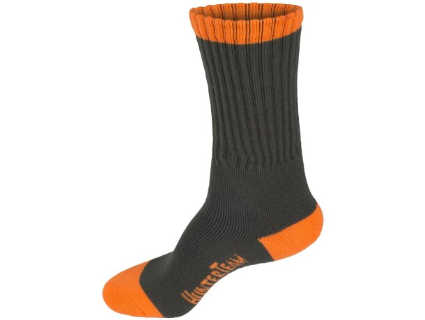 Calcetines protección verde caza naranja av