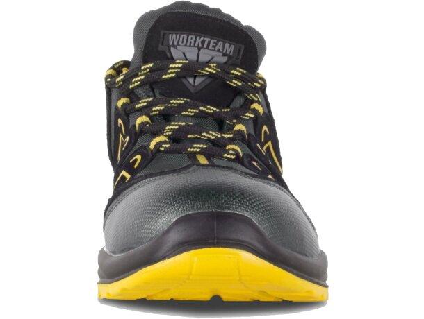 Zapatilla protección gris amarillo