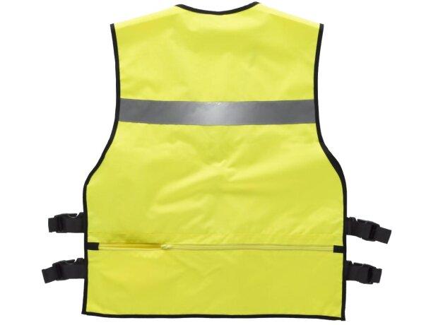Chaleco de seguridad con multolsillos amarillo a.v.