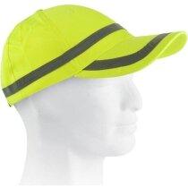 Gorra de trabajo en alta visibilidad personalizada amarilla