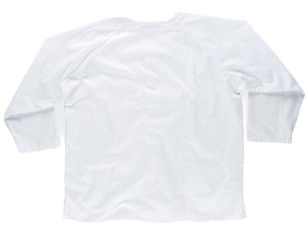 Casaca en manga larga con bolsillo blanco