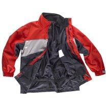 Parka sport rojo gris negro