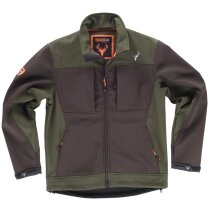 Workshell sport marron/verde caza