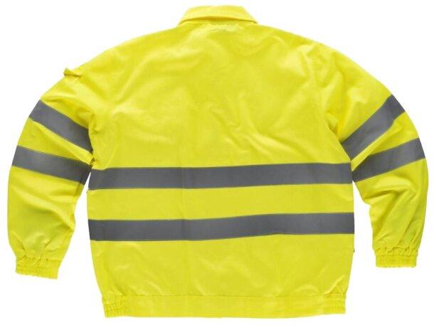 Chaqueta monocolor con reflectantes y bolsillos amarillo a.v.