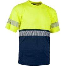 Camiseta combinada en manga corta de alta visibilidad