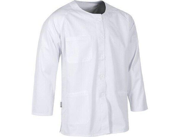 Casaca en manga larga con bolsillo blanca