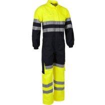 Buzo completo con bolsillos y líneas reflectantes personalizado amarillo