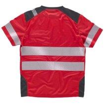 Camiseta fluor rojo gris oscuro