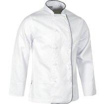 Casaca de algodón en manga larga blanca