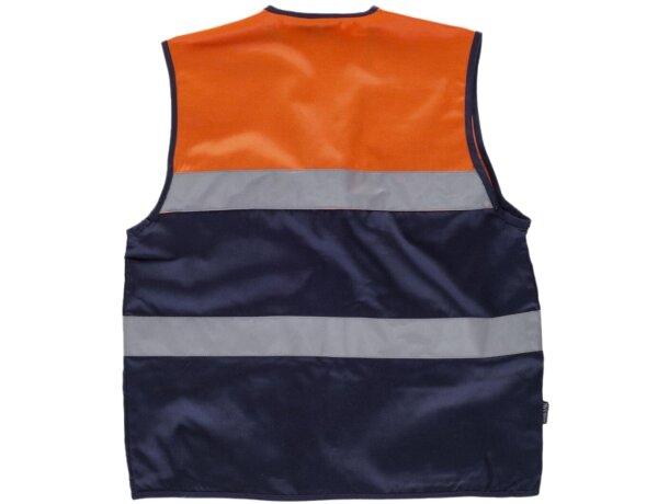 Chaleco fluor marino naranja a.v.