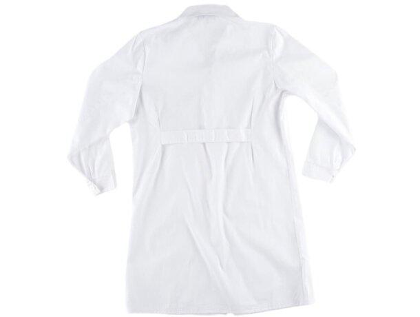 Bata de mujer con bolsillos blanco