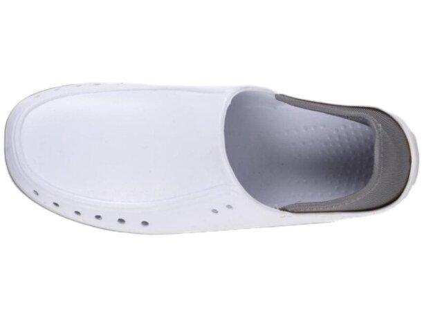 Zueco anatómico y ligero con talón cubierto blanco