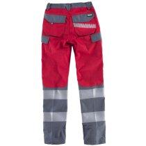 Pantalon fluor rojo gris oscuro