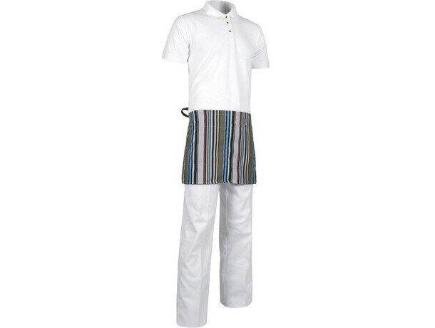 delantal corto para hostelería con rayas personalizado