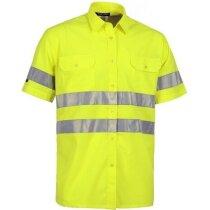 Camisa de alta visibilidad de manga corta amarilla