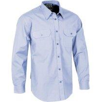 Camisa laboral de manga larga de algodón