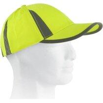 Gorra de trabajo en poliester personalizada amarilla