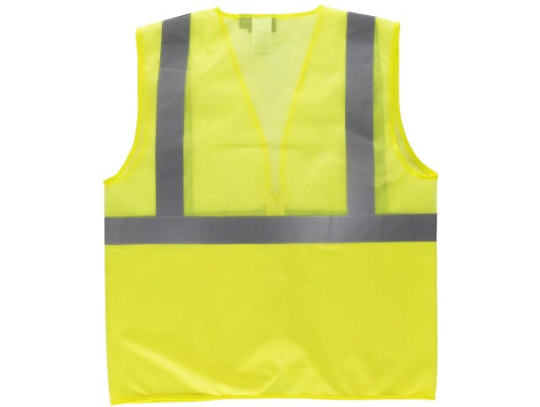 Chaleco de alta visibilidad de poliester amarillo a.v.