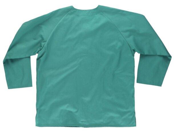 Casaca en manga larga con bolsillo verde