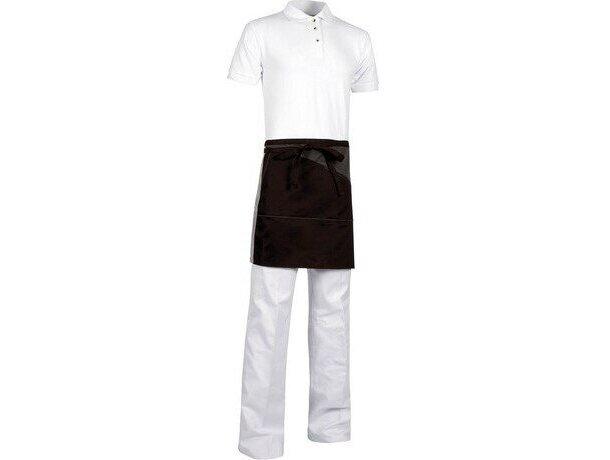 delantal corto con bolsillos interiores personalizado