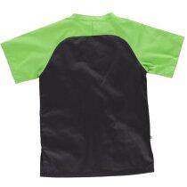 Casaca servicios negro verde pistacho