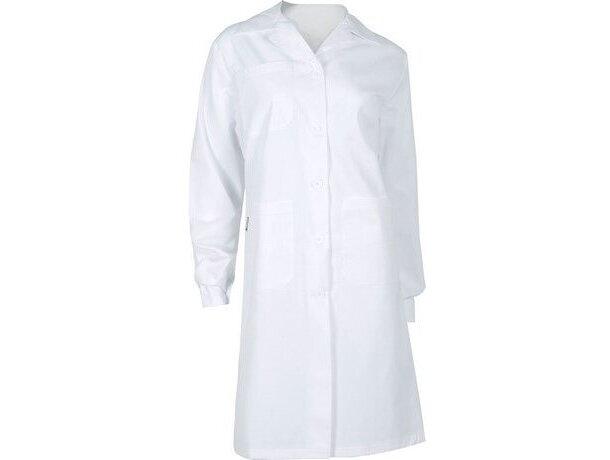 Bata de mujer con bolsillos blanca
