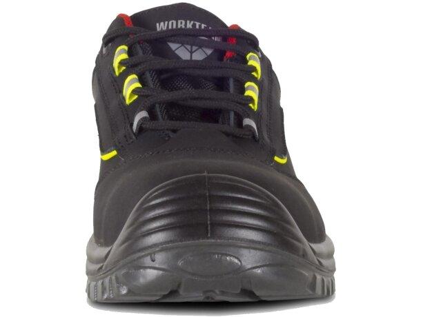 Zapato protección negro   rojo   amarillo a.v.