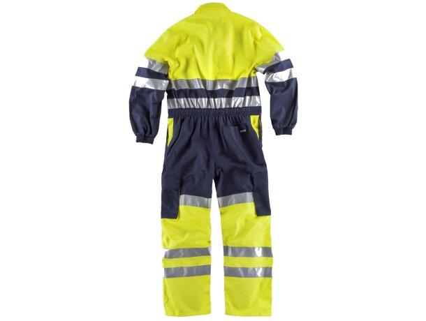 Buzo completo con bolsillos y líneas reflectantes marino amarillo a.v.