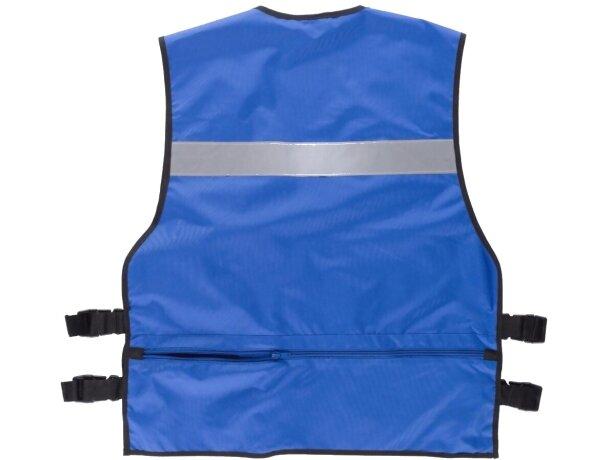Chaleco de seguridad con multolsillos azulina