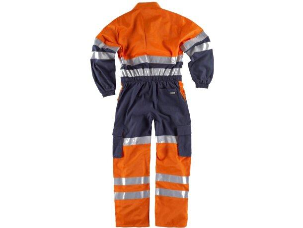 Buzo completo con bolsillos y líneas reflectantes marino naranja a.v.