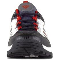 Zapatilla protección negro gris rojo