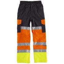 Pantalon fluor negro naranja av amarillo av