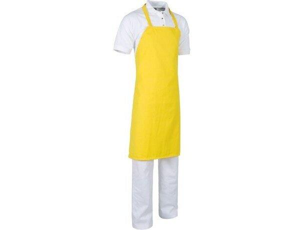 delantal sin bolsillos en varios colores personalizado amarillo