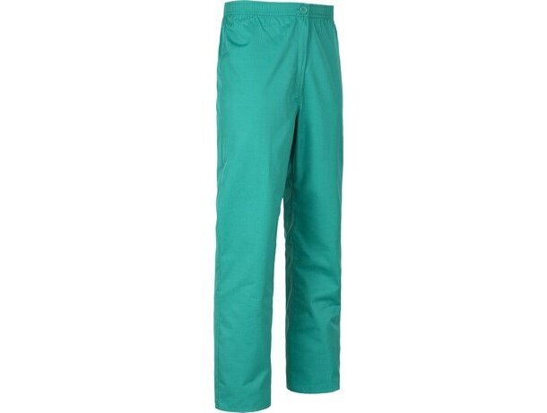 Pantalón de algodón liso recto verde