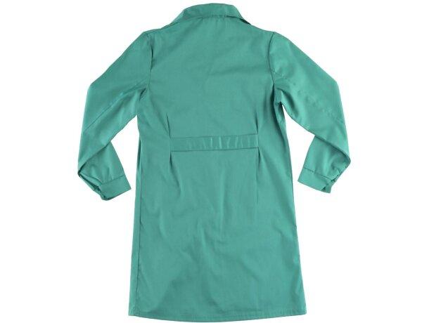 Bata de mujer con bolsillos verde