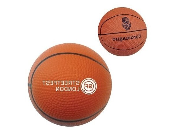 Antiestrés modelo pelota de baloncesto personalizado