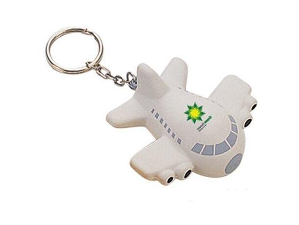 Llavero antiestrés avión personalizado