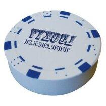 Antiestrés con forma de moneda de póker personalizado