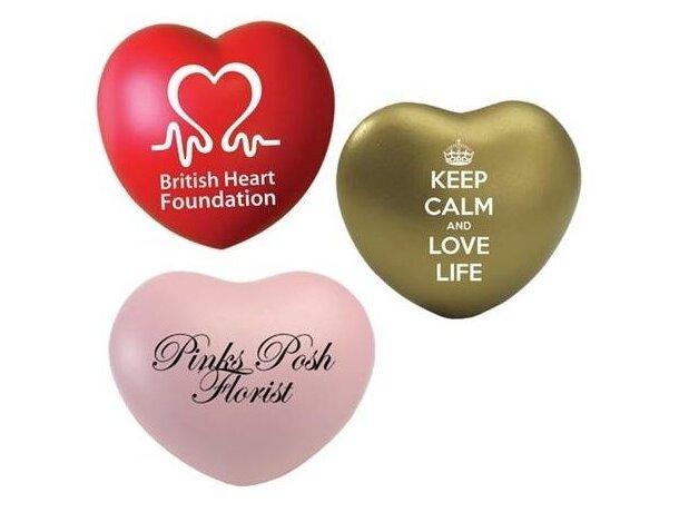 Corazón antiestrés gran variedad de colores personalizado